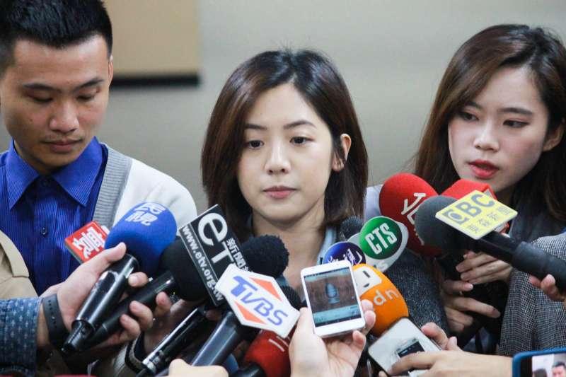 20191101-台北市府副發言人「學姊」黃瀞瑩傳出遭長官性騷擾,1日受訪時表示目前已進入調查程序。(方炳超攝)