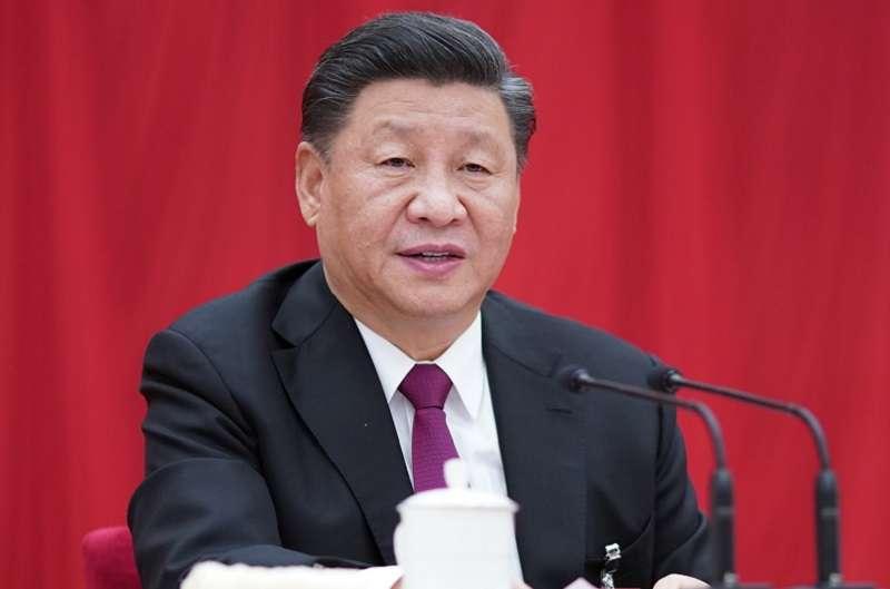 中國共產黨第十九屆中央委員會第四次全體會議,於2019年10月28日至31日在北京舉行。總書記習近平講話。(新華社)