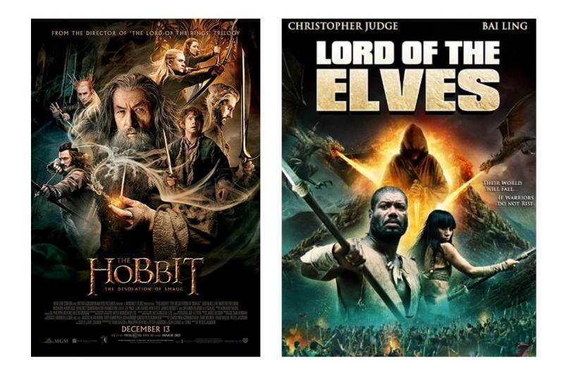 鬧上法院的哈比人電影,連封面都超像。(圖/IMDb)