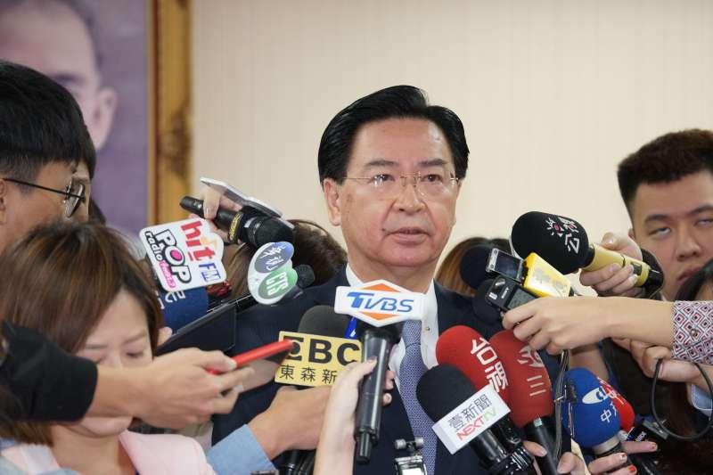 20191106-外交部長吳釗燮6日出席外交國防委員會。(盧逸峰攝)