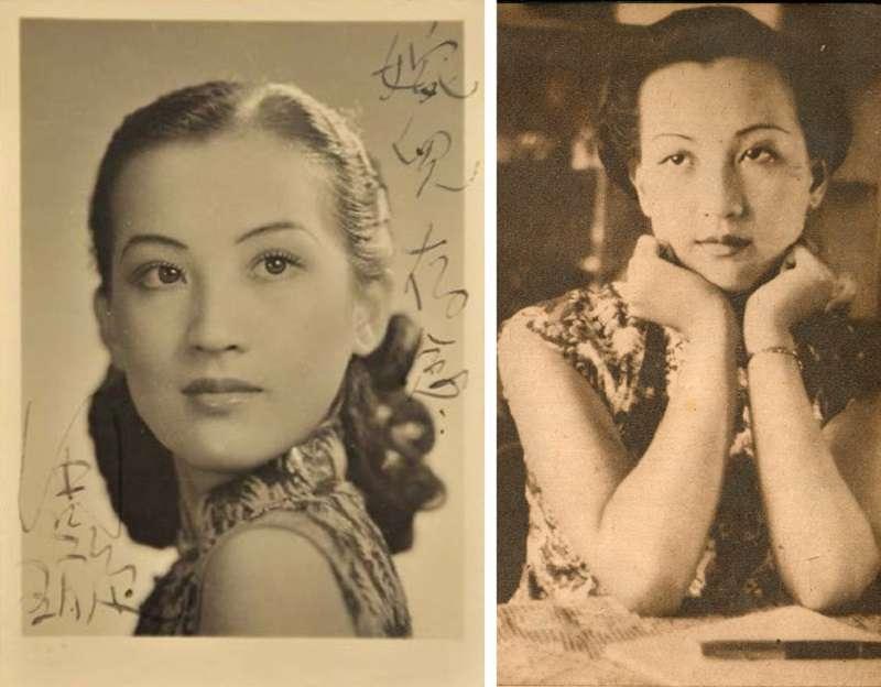 周璇,左照攝於1947年(編者蔡登山提供)