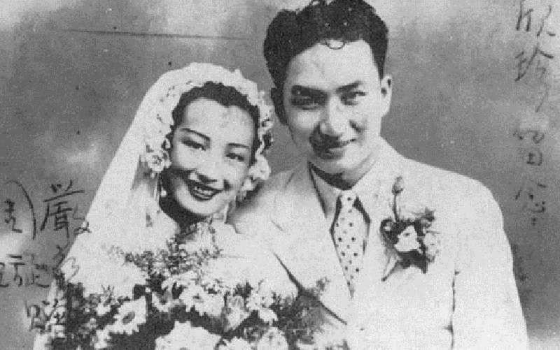 周璇與嚴華結婚照(1938年)(取自維基百科)