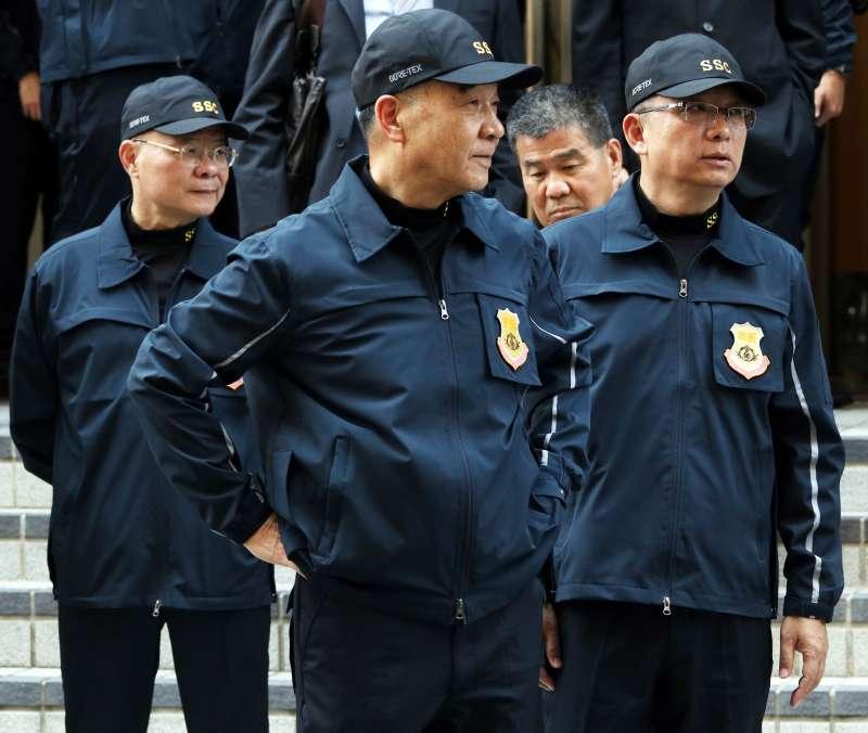 20191107-國安局特勤中心副指揮官周廣齊中將(右)。(蘇仲泓攝)
