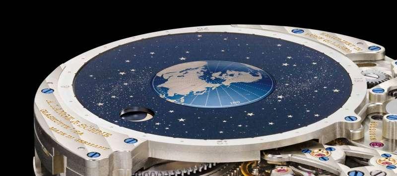 A. Lange & Söhne朗格的Saxonia Moon Phase月相錶機芯。(圖/A. Lange & Söhne朗格官網)