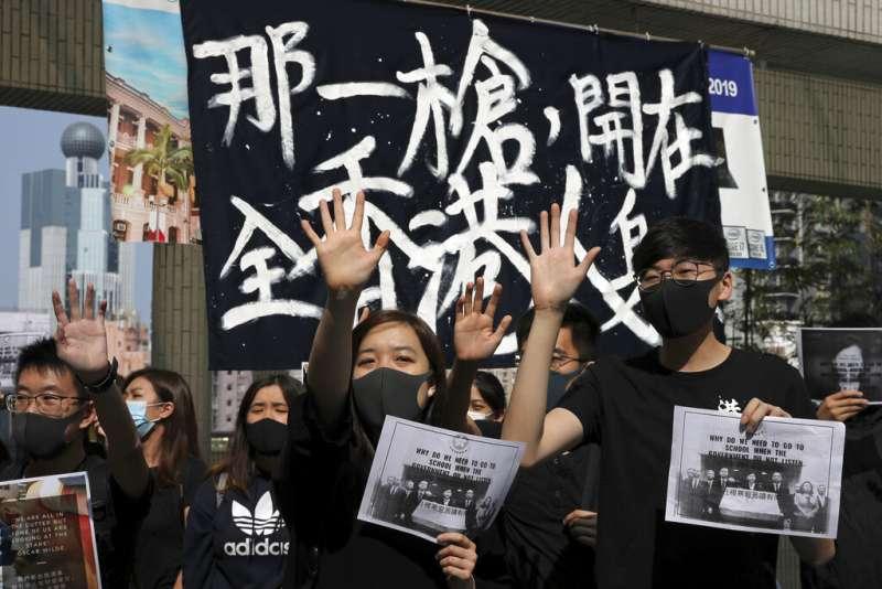 香港反送中抗爭。(美聯社)