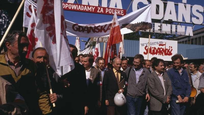 波蘭的團結工會在選舉中獲得令人矚目的勝利。(圖/德國之聲)