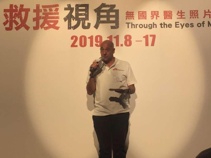 無國界醫生香港總幹事戴義禮認為,台灣具有很活躍的公民社會,參與國際人道救援工作仍有很大潛力。(王穎芝攝)