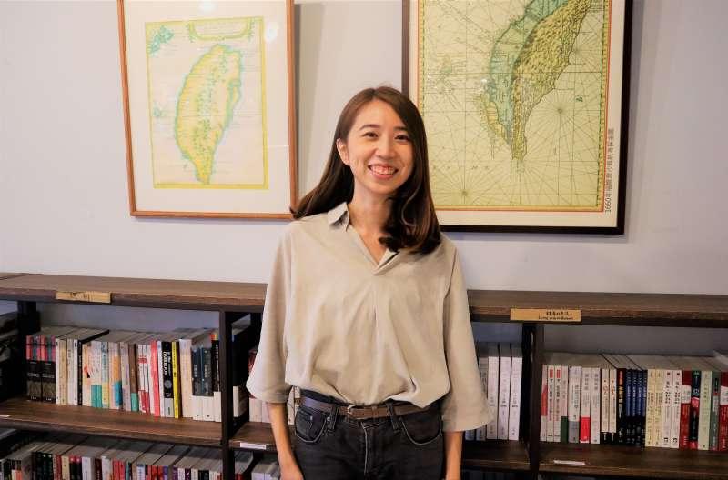 台灣數位外交協會理事長郭家佑發起Taiwan Corner 公民外交咖啡館募資行動,讓台灣人「和世界交朋友」。(蔡娪嫣攝)