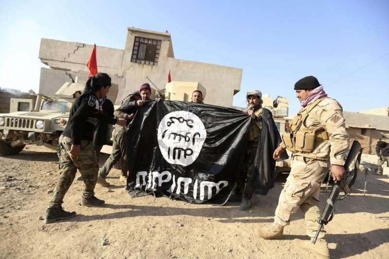 伊斯蘭國中東勢力遭擊潰。(AP)
