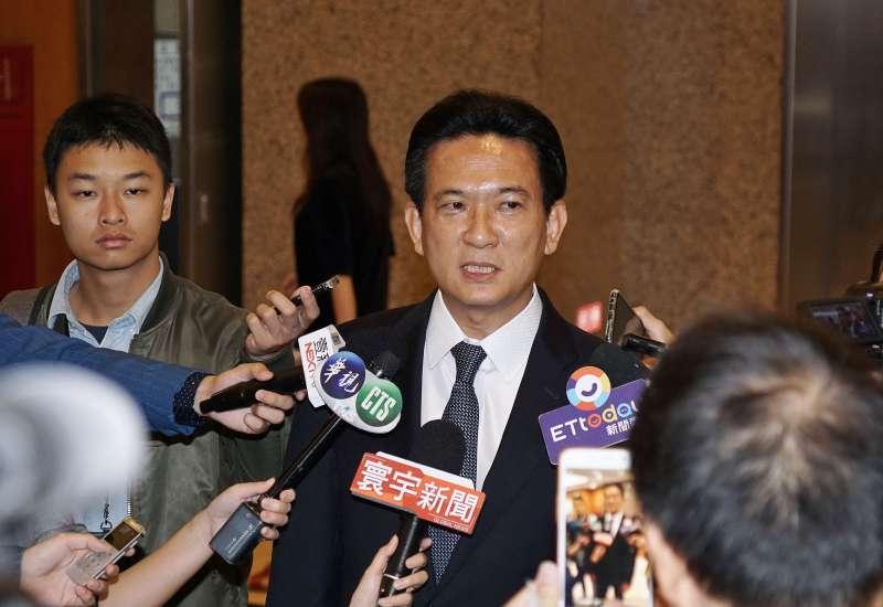 20191111-立委林俊憲11日於立院受訪。(盧逸峰攝)