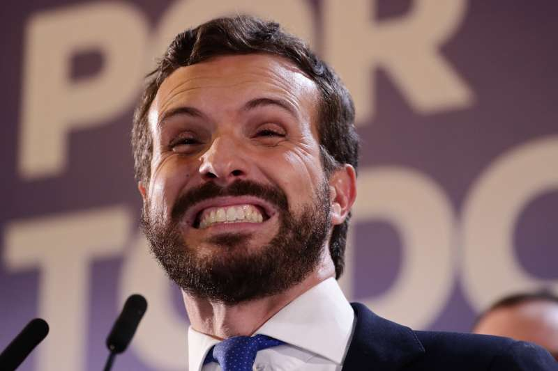 西班牙大選:右派政黨人民黨主席卡薩多。(AP)