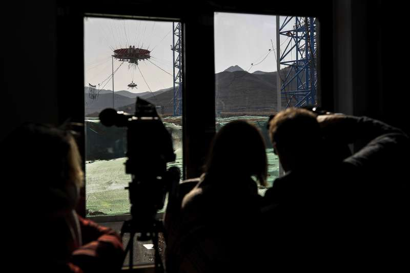 中國火星探測任務首次公開在世人眼前。(AP)