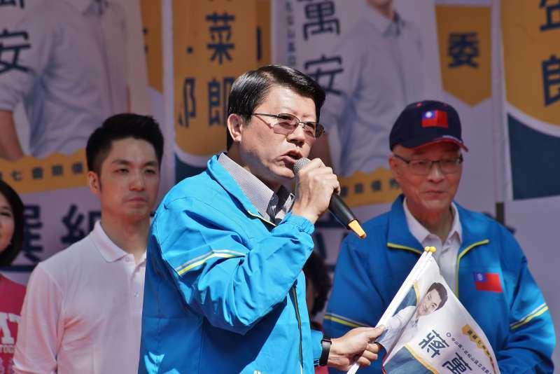 20191117-台南市議員謝龍介17日主持立委蔣萬安競選總部成立大會。(盧逸峰攝)