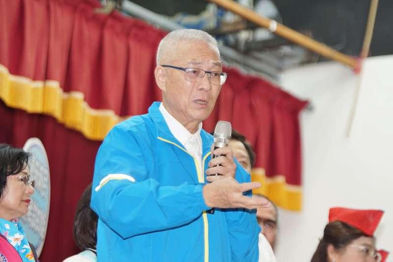 20191117-國民黨主席吳敦義17日出席婦女後援會成立大會。(盧逸峰攝)