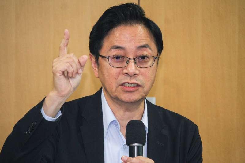 20191120-國民黨副總統參選人張善政出席台灣青年圓桌會議。(蔡親傑攝)
