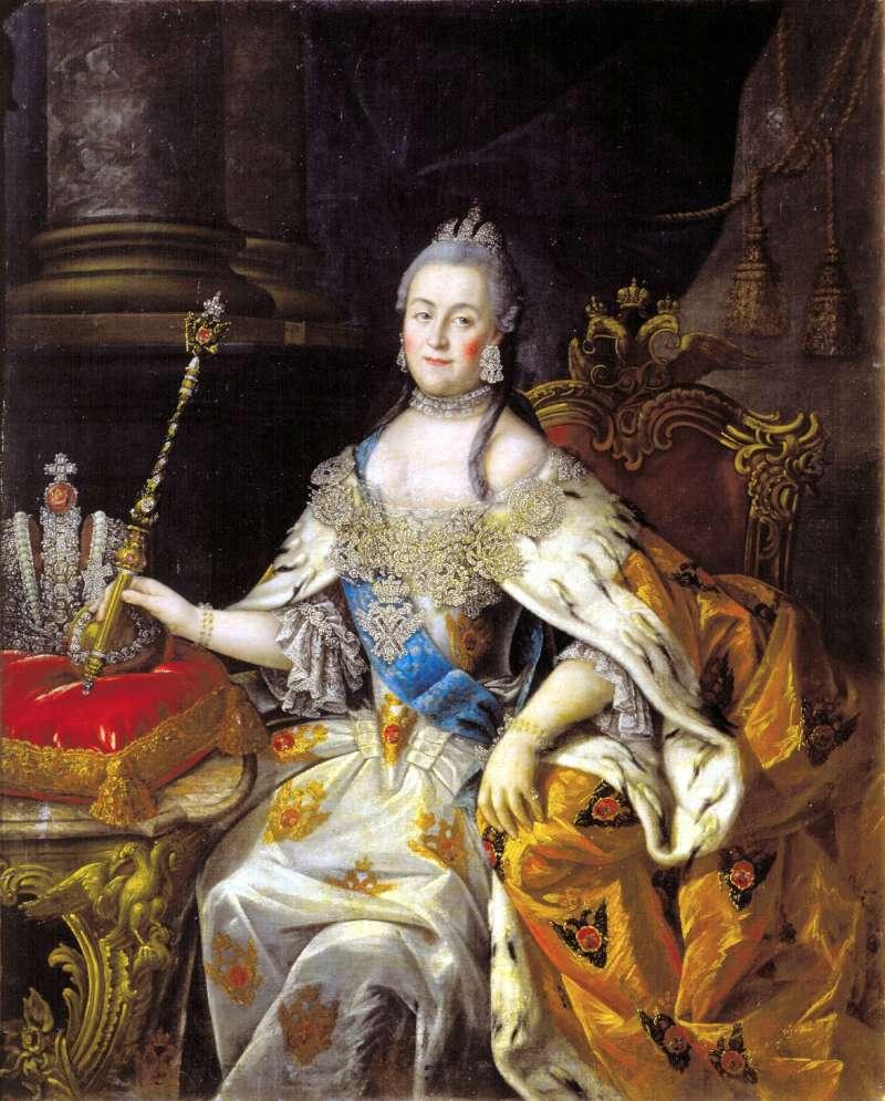凱薩琳二世是俄羅斯在位最久的女沙皇,她被認為是開明君主之一。(取自維基百科共享資源)