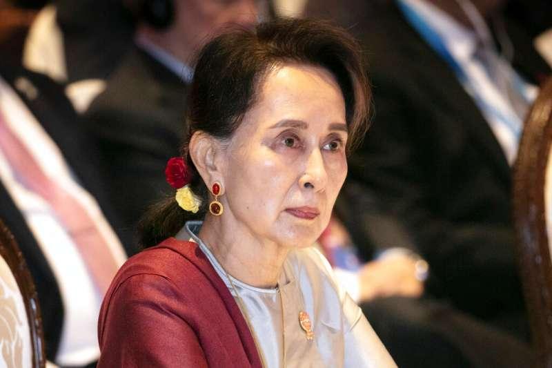 緬甸國務資政、實質領導人翁山蘇姬。(AP)