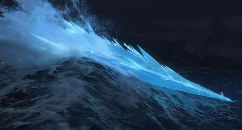 《冰雪奇緣2》的預告中出現更多艾莎使出強大魔法的奇幻畫面,動畫的細緻度可說是超越了前作。(圖/IMDb)