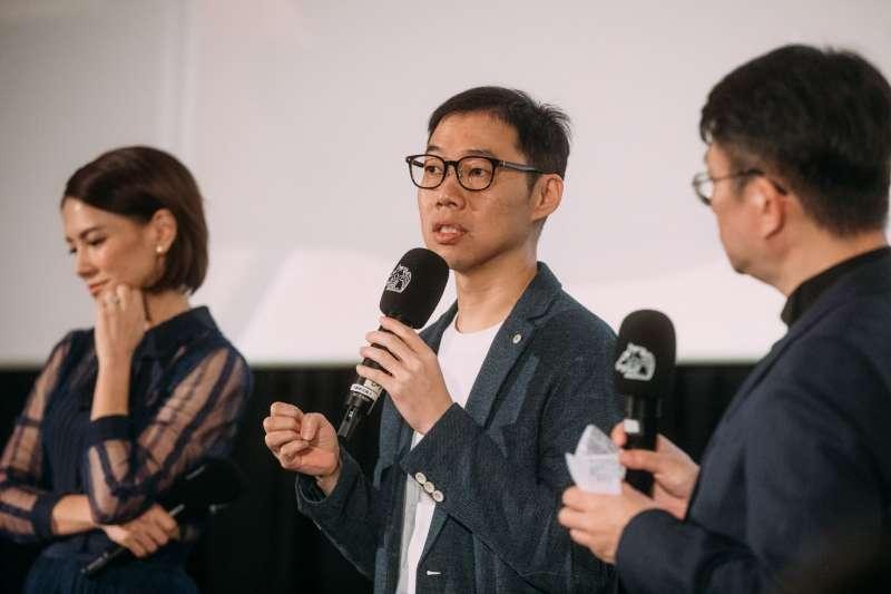 20191122-金馬影展閉幕片《夕霧花園》於21日晚間舉行首映,導演林書宇出席首映會。(金馬執委會提供)