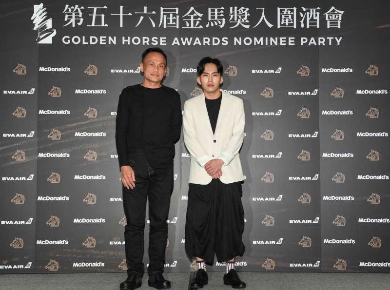 20191122-金馬獎最佳男主角3位香港入圍者缺席入圍酒會,僅有《陽光普照》的陳以文(左起)、巫建和父子檔參加。(金馬執委會提供)