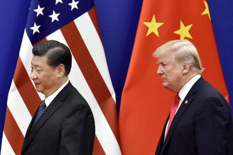 美國總統川普(右)與中國國家主席習近平(左)(美聯社)