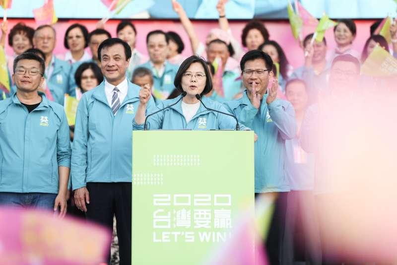 20191124-總統蔡英文24日出席連任台中市競選總部成立大會。(簡必丞攝)