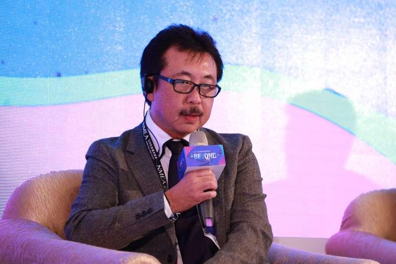 20191125-新媒體暨影視音發展協會(NMEA)25日舉辦亞洲新媒體高峰會。圖為株式會社角色銀行社長陸川和男。(NMEA提供)