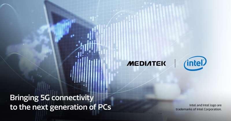 20191126聯發科技宣佈與英特爾攜手,將其最新5G數據機導入個人電腦市場中。(聯發科技提供)