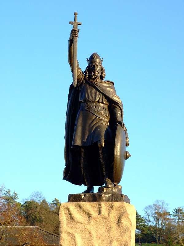 威賽克斯王國(Wessex)的阿佛烈大帝(King Alfred)率領盎格魯薩克遜人抵抗維京人。(圖/取自Flickr)