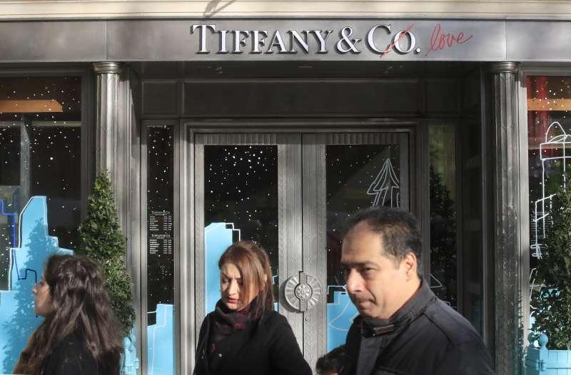 路威酩軒(LVMH)集團收購百年珠寶品牌蒂芙尼(Tiffany)。(AP)