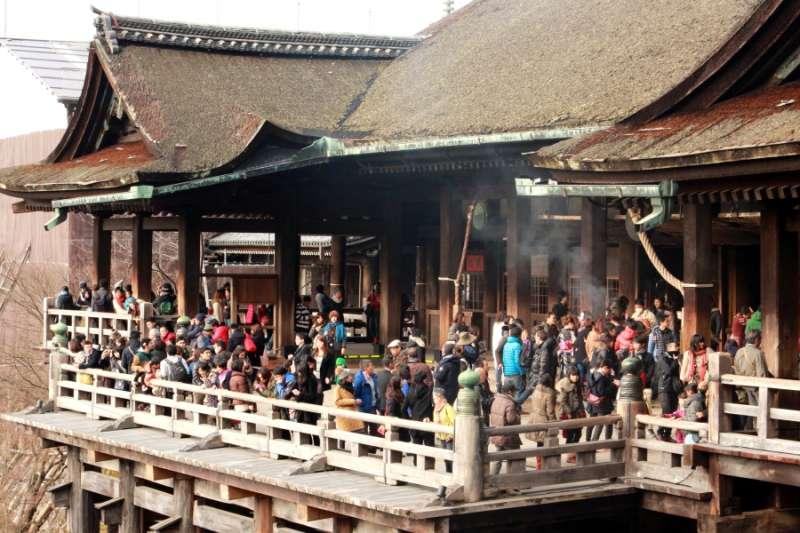 2 清水寺的清水舞台。(圖/想想論壇)