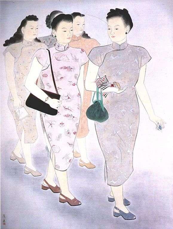 陳進作品〈婦女圖〉,1945年。(圖/方格子)