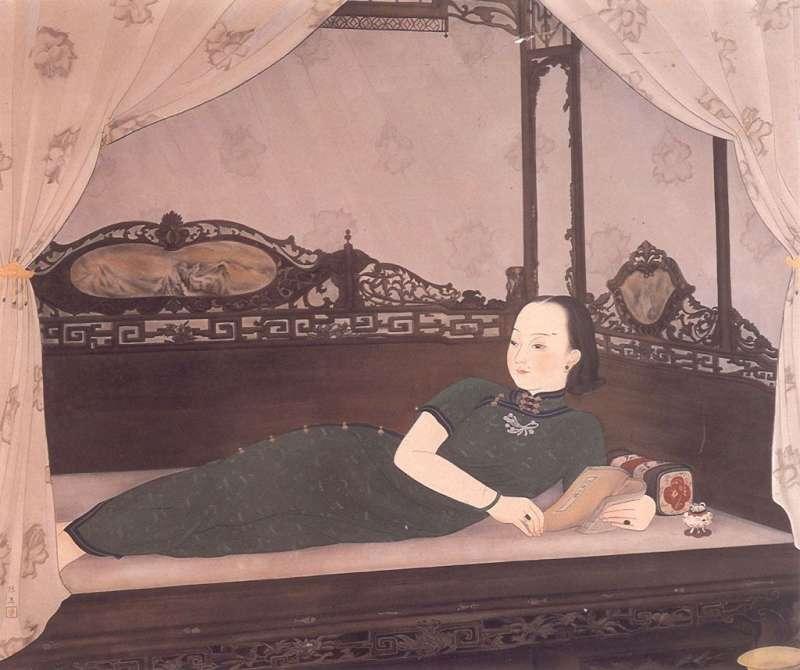陳進作品〈悠閒〉(1935年)(圖/方格子)