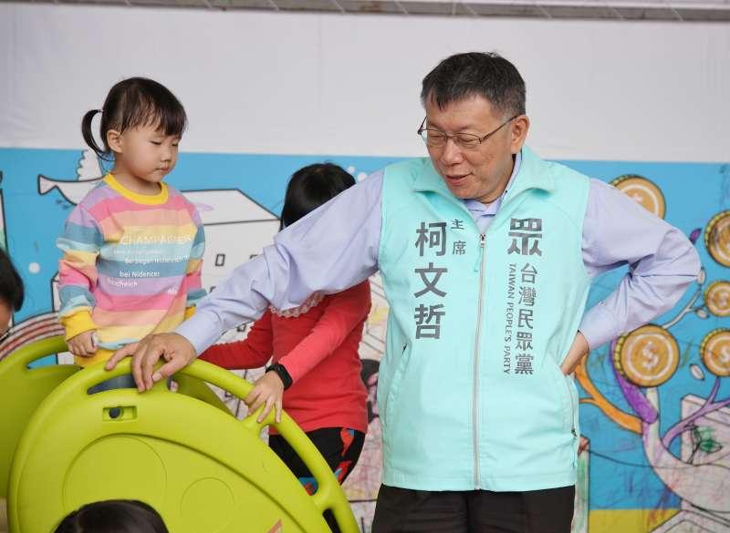 20191130-立委參選人李縉穎30日舉行競總成立大會,民眾黨主席柯文哲出席。(盧逸峰攝)