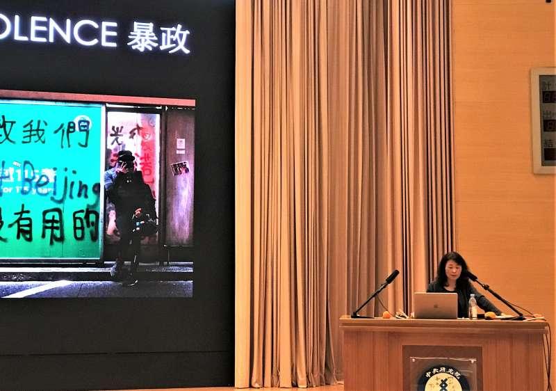 11月30日,香港社會學家李靜君來台探討香港反送中運動帶來的社會學反思。(蔡娪嫣攝)