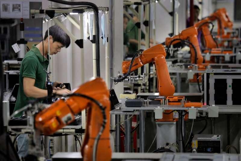 中國經濟、中美貿易戰。這一製造業活動指標高於經濟學家的預期中值。(美聯社)