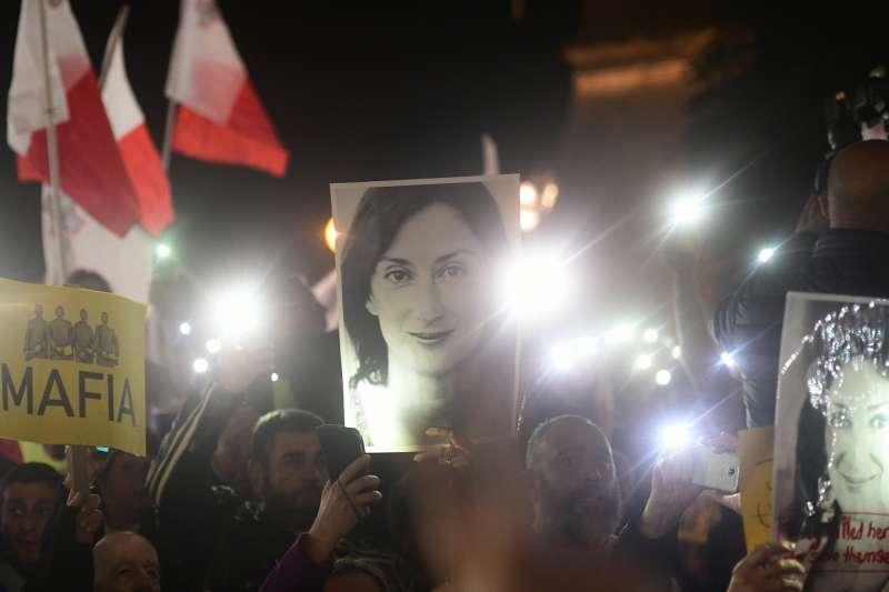 馬爾他女記者嘉麗齊亞謀殺案終現進展,撼動馬爾他政壇。(AP)