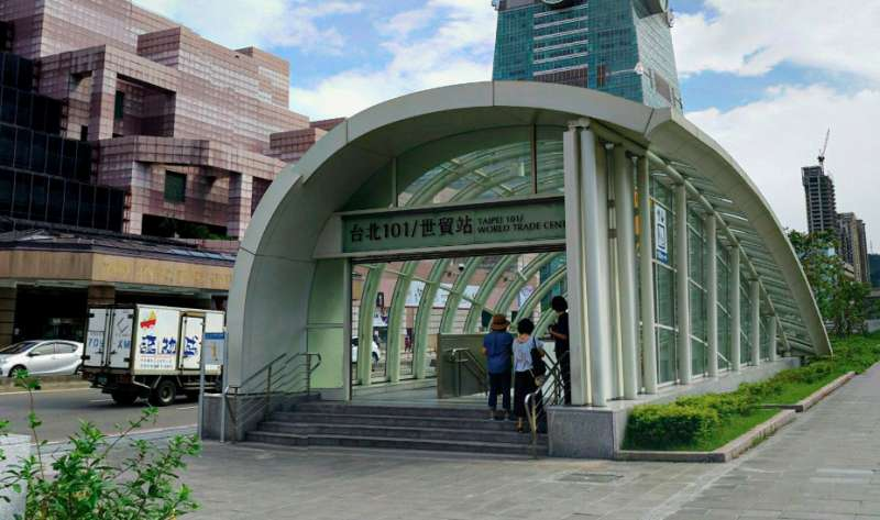 台北101/世貿站。(圖/Google地圖)