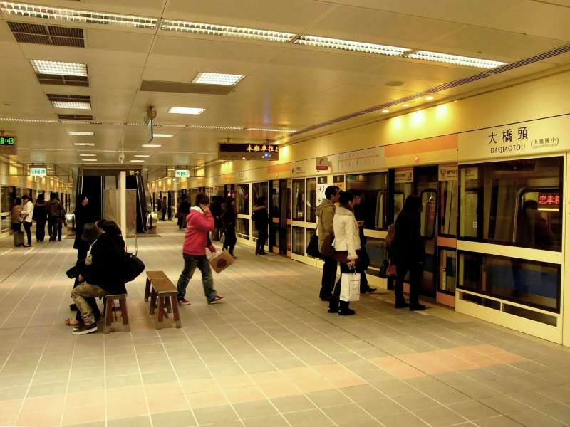捷運大橋頭站。(圖/維基百科)