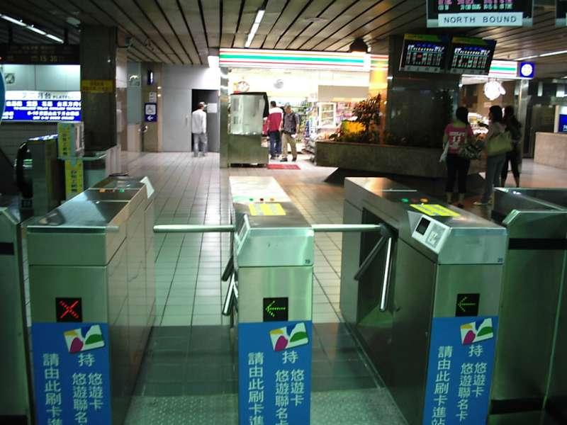 三柱轉軸驗票閘門。(圖/維基百科)