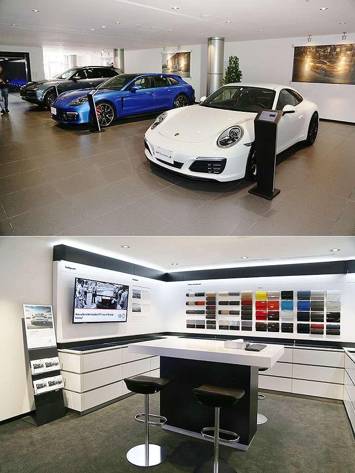 Porsche 車系擴展,展示中心裝潢等級不斷提升,展示面積與服務能量需求亦持續成長。(圖片取自u-car)