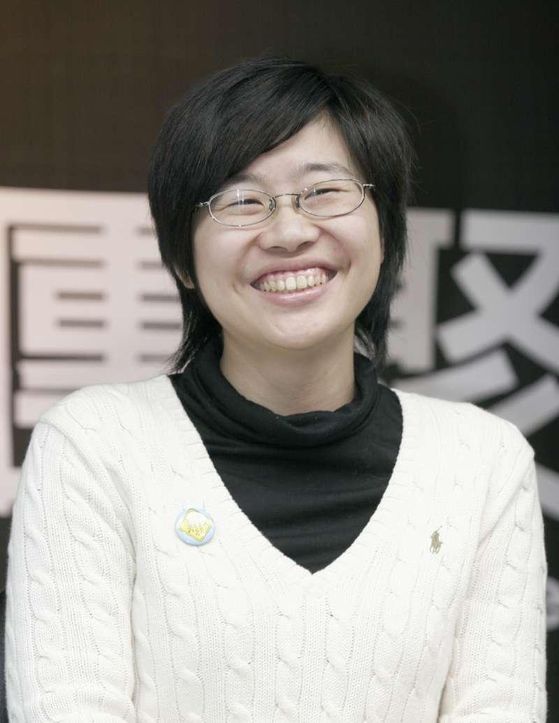 20080130-「卡神」楊蕙如(見圖)2008年時曾出席民進黨謝長廷競選總統相關活動。(新新聞林旻萱攝)