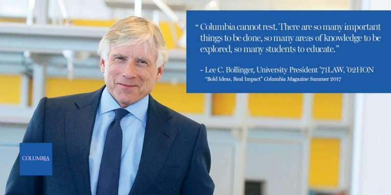 美國哥倫比亞大學校長李·卡羅爾·布林格 (Lee C. Bollinger)(取自哥倫比亞大學推特)