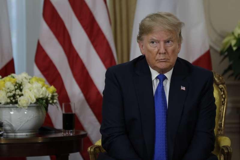 美國總統川普出席北約70周年峰會。(AP)