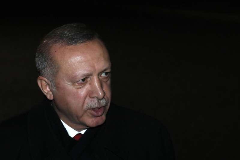 北約70周年峰會,土耳其議題成各方交鋒焦點,圖為土耳其總統艾爾多安。(AP)