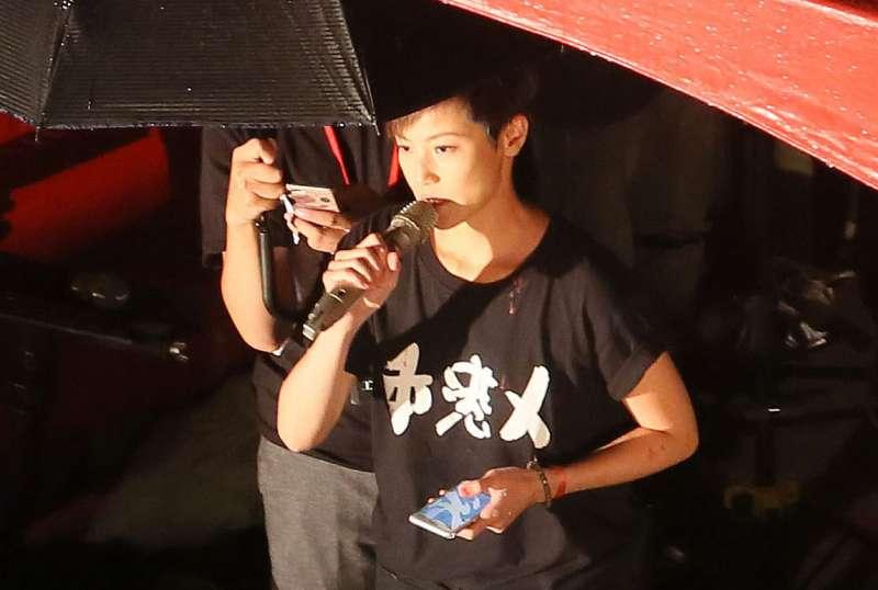 北京認定何韻詩是「港獨分子」,認為蔡政府介入反送中運動。(柯承惠攝)
