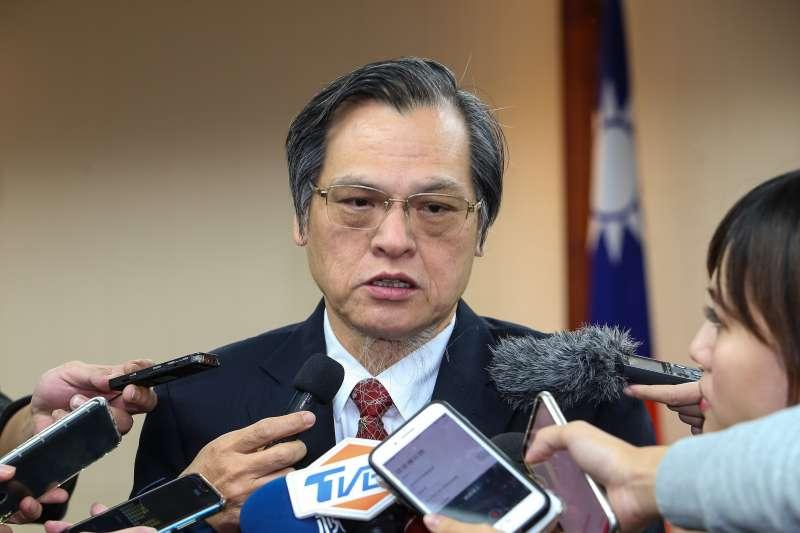 20191205-陸委會主委陳明通5日於內政委員會接受媒體聯訪。(顏麟宇攝)
