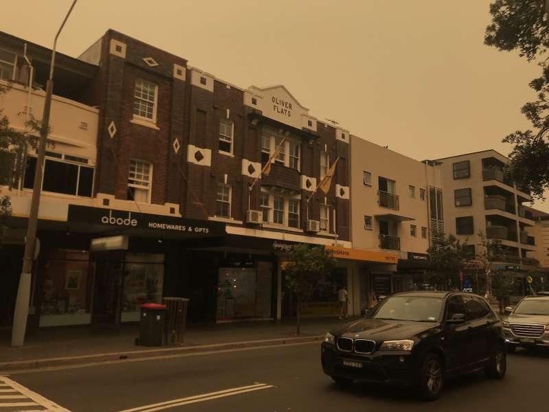 澳洲新南威爾斯省連續數月發生森林大火,附近的大城市雪梨被煙霧籠罩。(蔡娪嫣攝)
