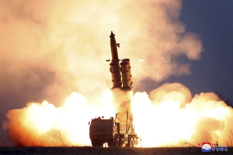 2019年,北韓頻頻試射「超大型火箭砲」(AP)