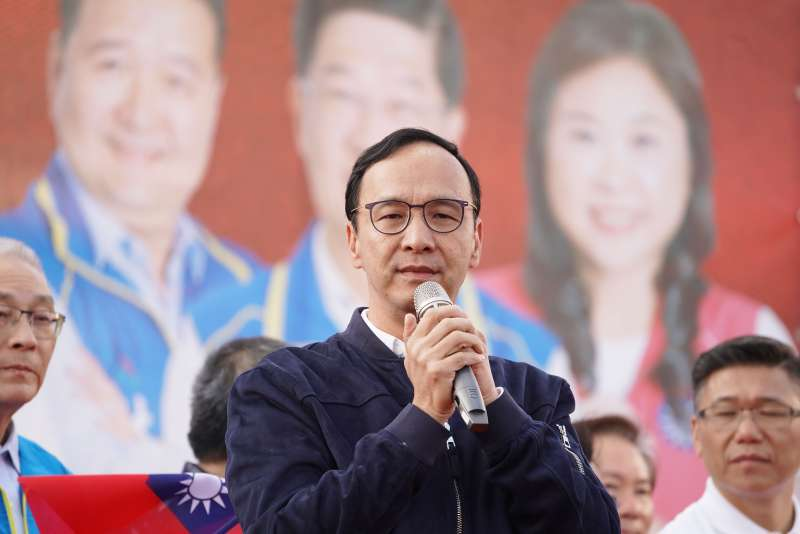 20191208-前新北市長朱立倫8日出席新北市聯合造勢活動。(盧逸峰攝)